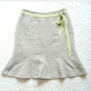 Ann Taylor Petites Skirt Mock Belt Sz 6P